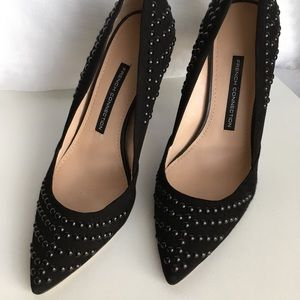 French connection black stud Elmyra pumps